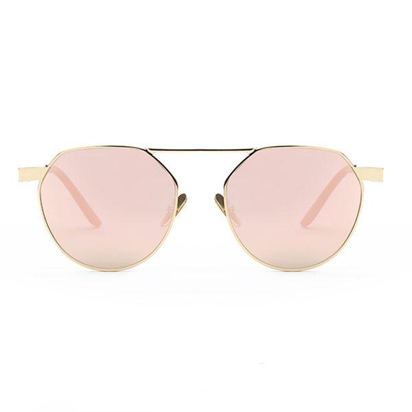 pink hexagonal sunglasses - buy online - iamtrend