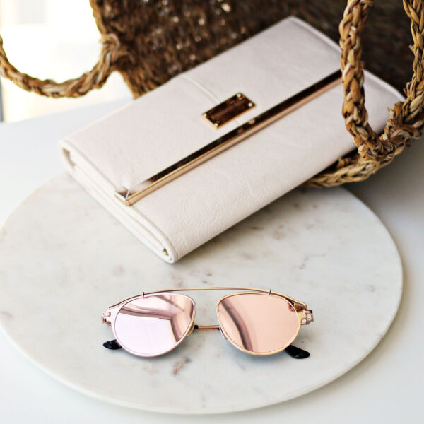 rose gold aviator sunglasses - buy online - iamtrend