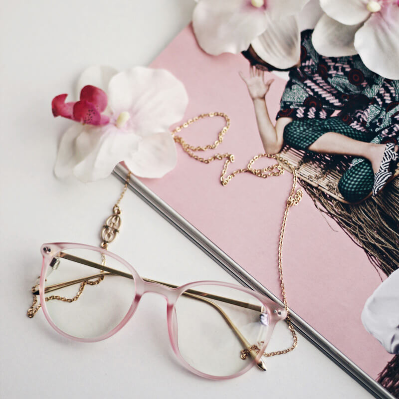 pink framed clear sunglasses - buy online - iamtrend