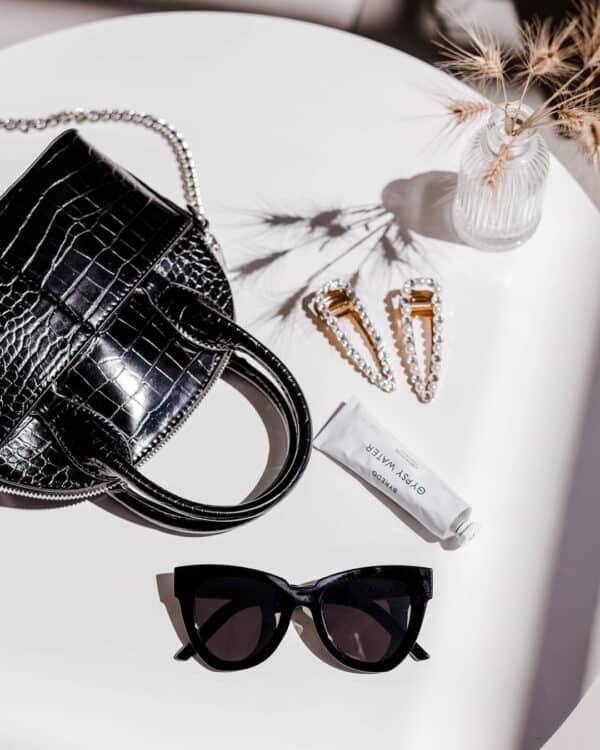 black UV400 woman sunglasses