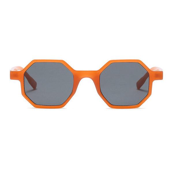 orange hexagonal sunglasses - buy online