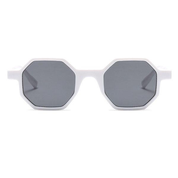 white hexagonal sunglasses - buy online