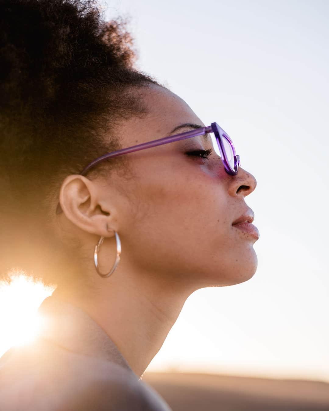 violet Cateye sunglasses