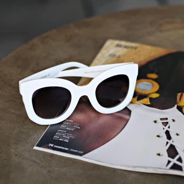 white framed oversized sunglasses - buy online - iamtrend