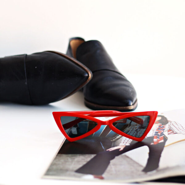 red framed sunglasses - buy online - iamtrend
