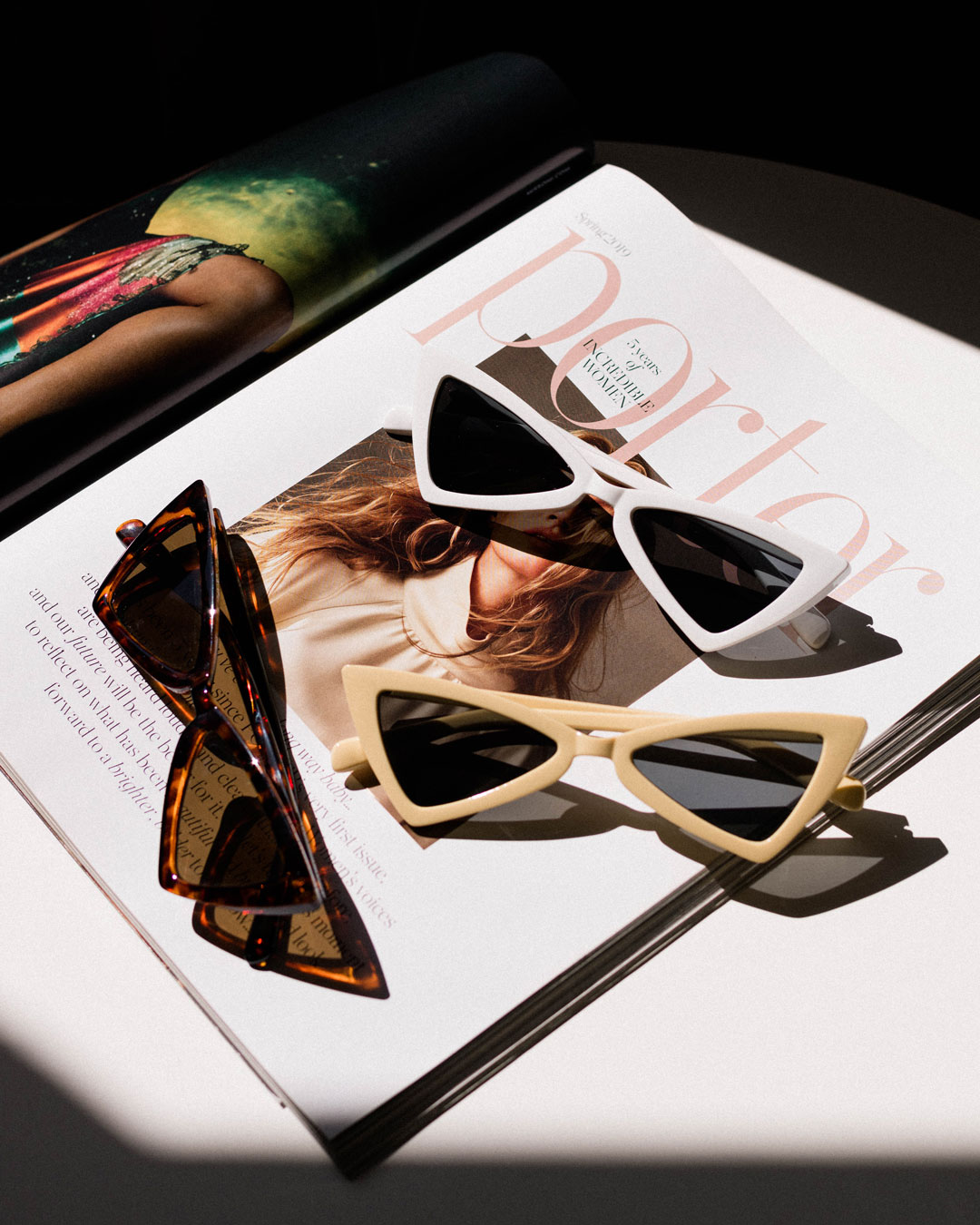 triangular sunglasses