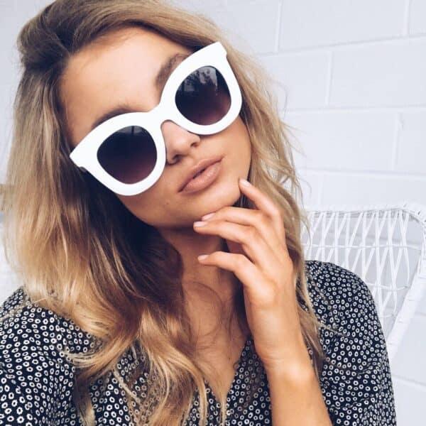 white oversized sunglasses - buy online - iamtrend