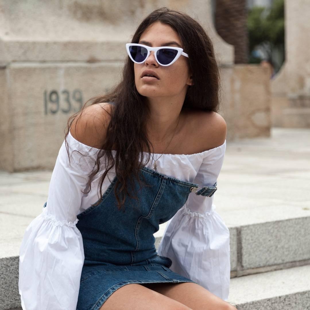 white framed sunglasses - buy online - iamtrend