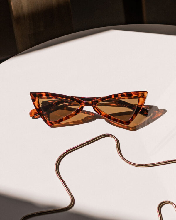triangle tortoise sunglasses