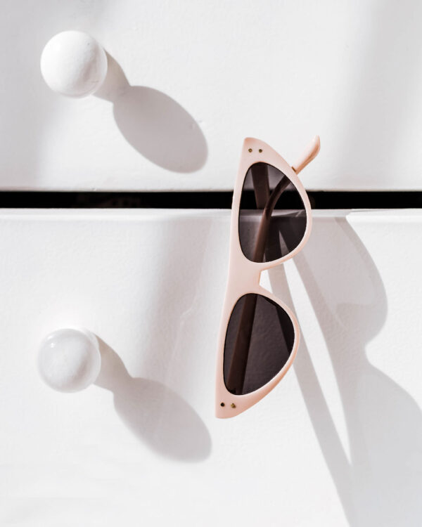 pink flat top sunglasses