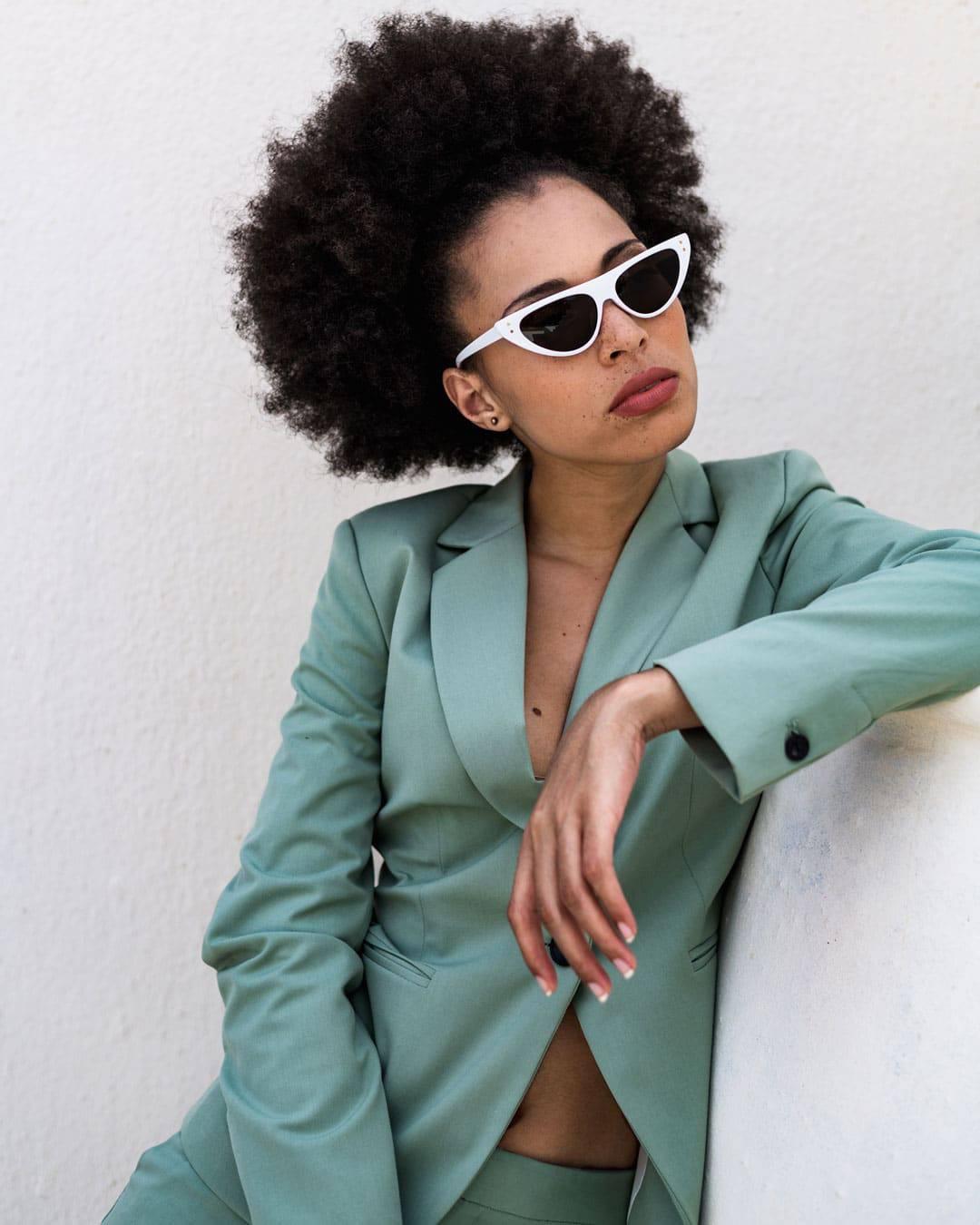 White Flattop Sunglasses