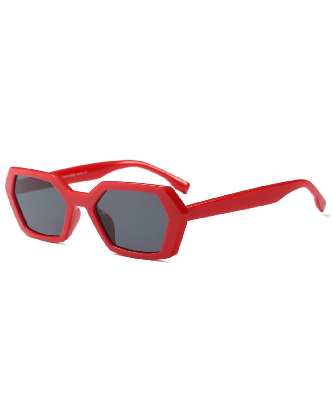 angular red sunglasses