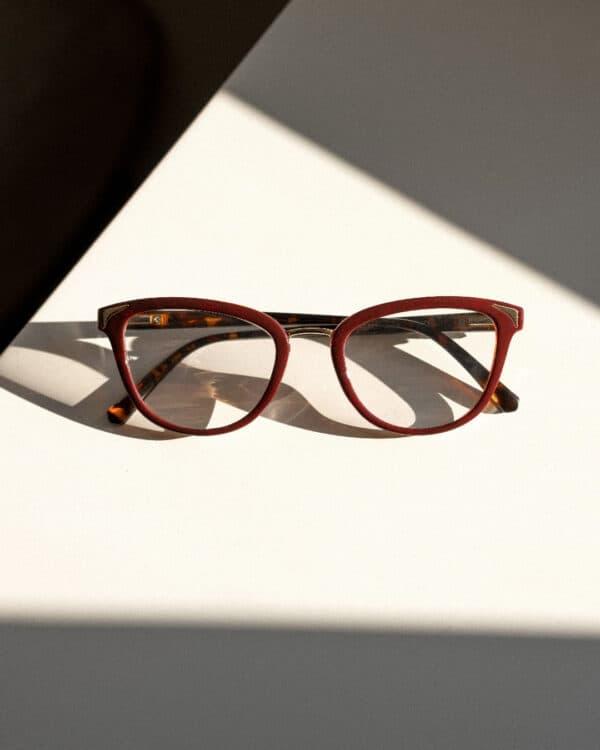 Square Burgundy Eyewear