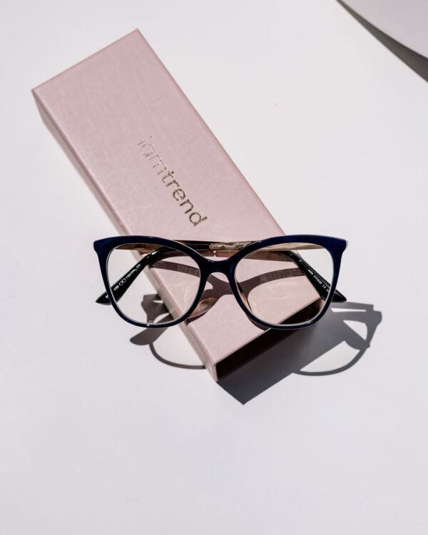 navy glasses