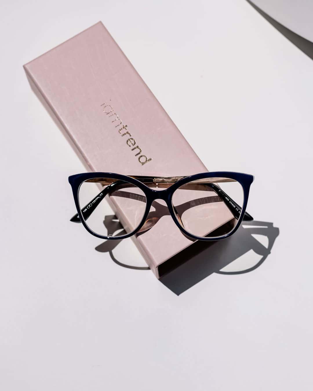 navy glasses