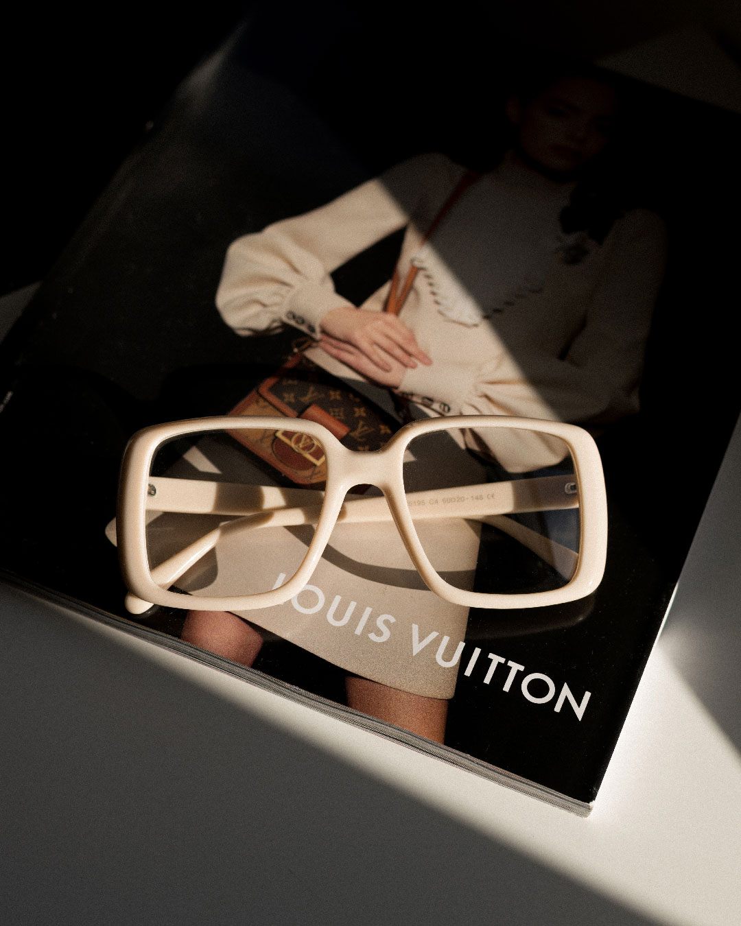oversized beige opticals