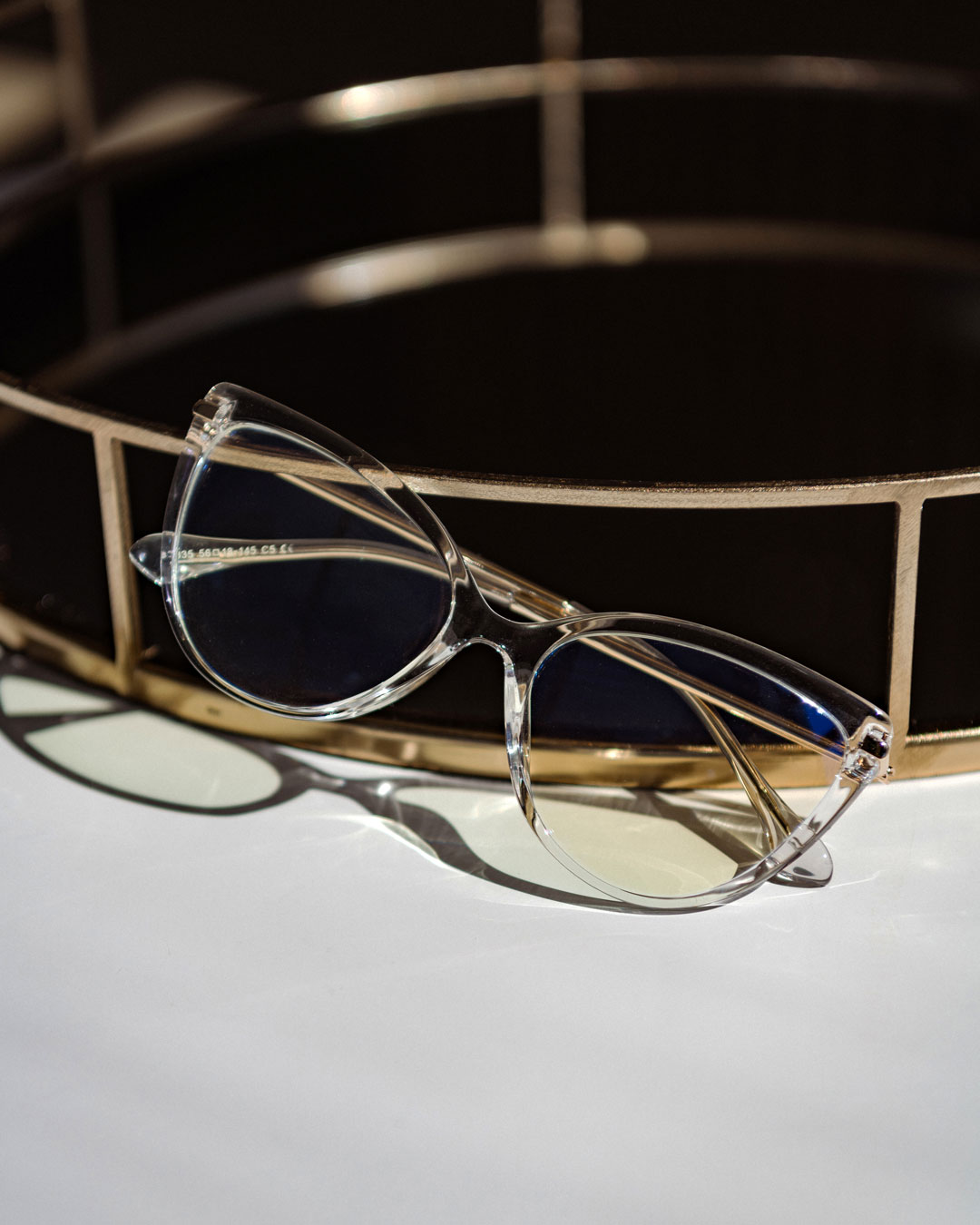 triangle clear blue light glasses