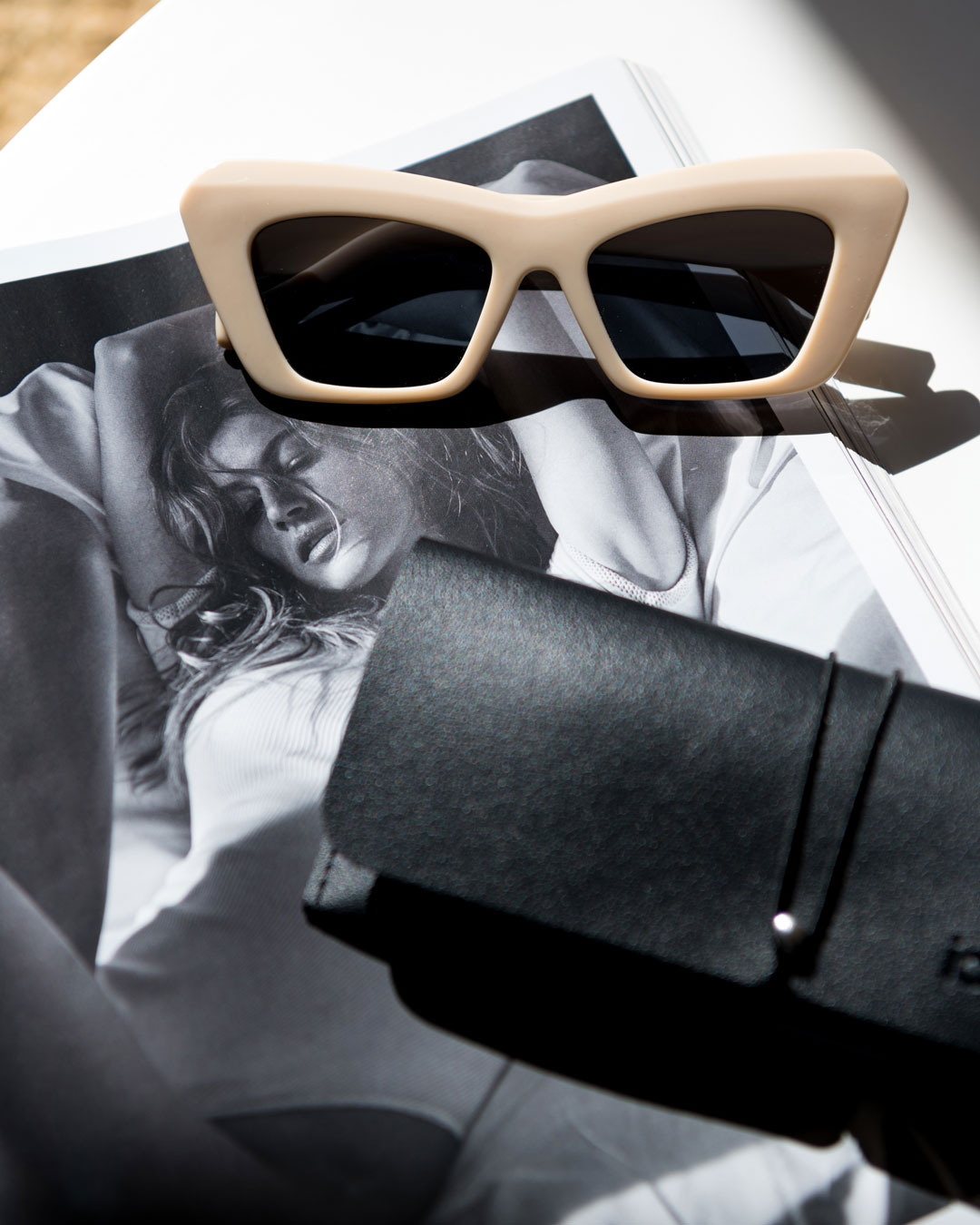 Ecru Cateye Sunglasses